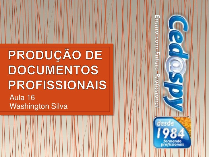 Aula 16Washington Silva