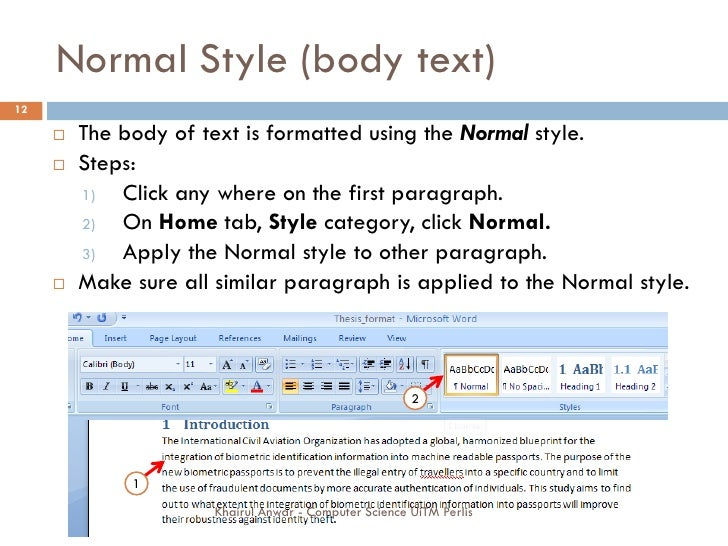 thesis template word