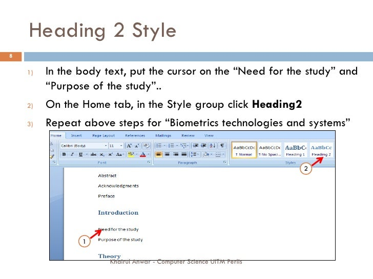 writing thesis in word 2007 When i started the third year of my phd, i was advised to attend a course to learn to how to use microsoft word properly before i started writing i laughed of course i knew how to use.
