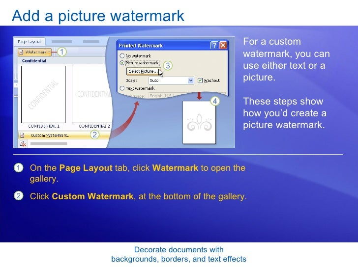 how to add background image to word document 2007