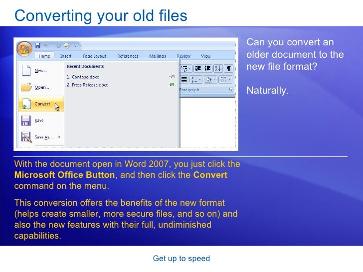 how to turn off compatibility mode in word 2007