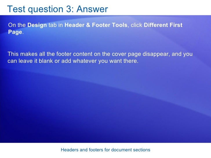 how to delete all headers and footers in textmaker