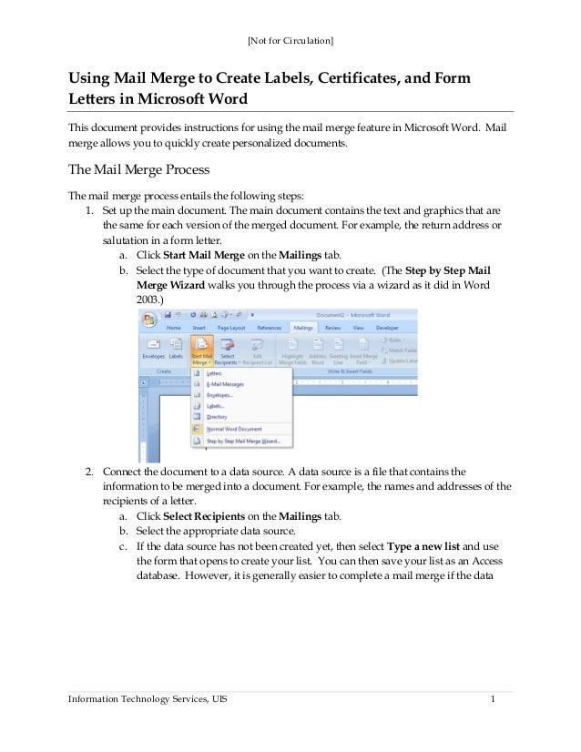 mail merge to pdf word 2007