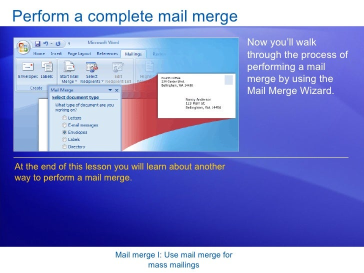 how to use mailings in publisher