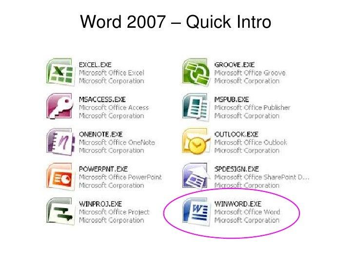 Word 2007 – Quick Intro<br />