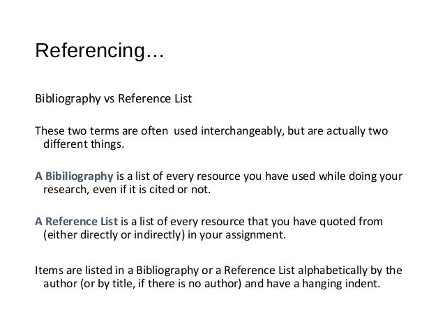 Learn to Reference with Word 2007 – Word Reference List
