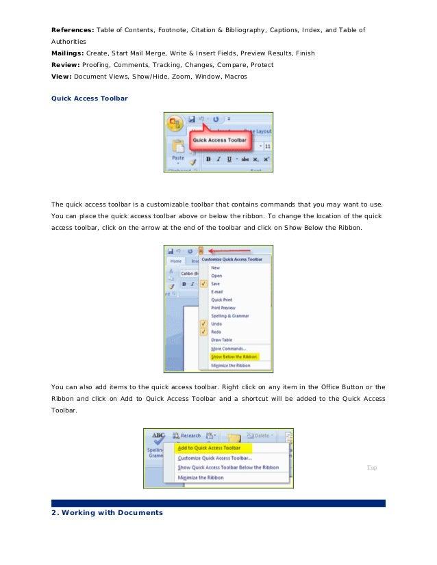 Word2007 tutorial