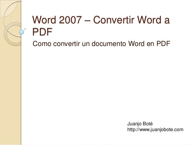 convertir documento de word en pdf