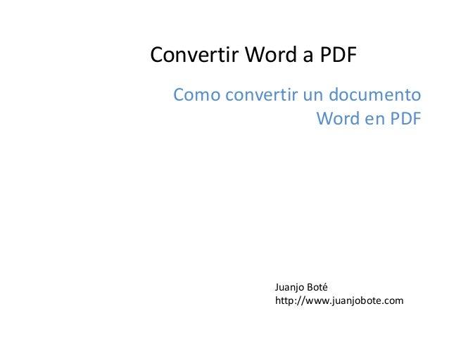 como convertir de word a pdf