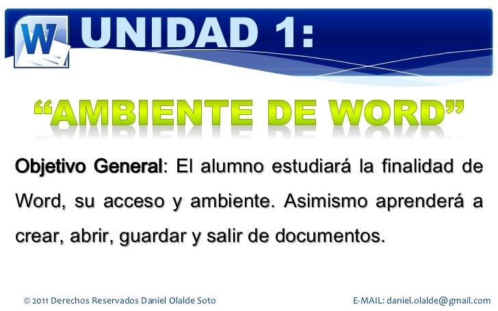 Word 2010 Slide 2