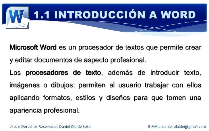 Word 2010 Slide 3