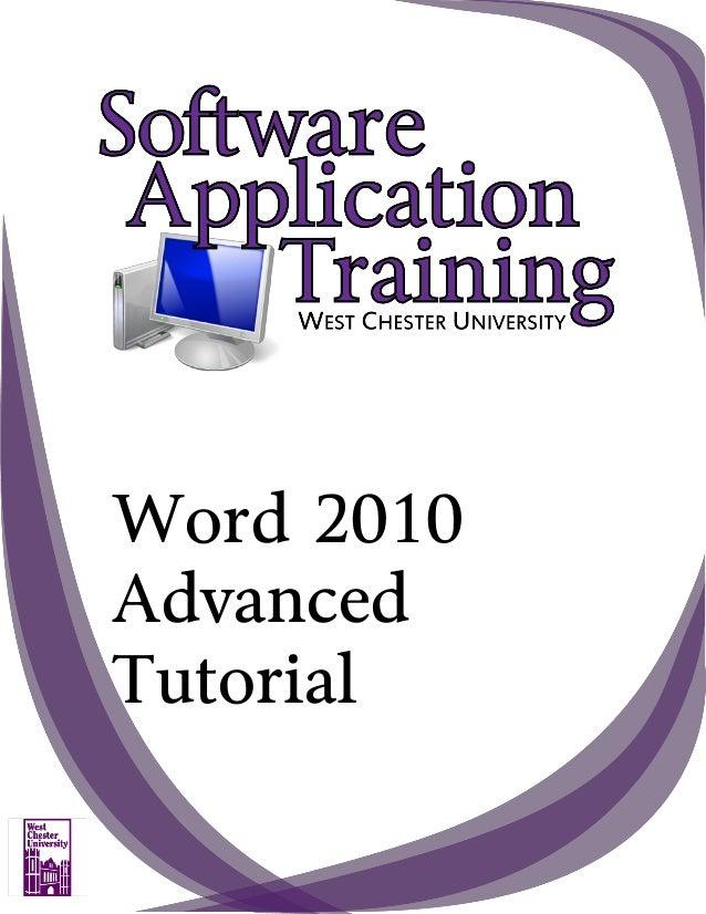 Word 2010 Advanced Tutorial
