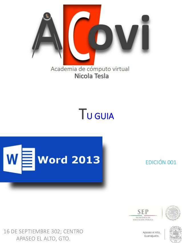 TU GUIA EDICIÓN 001  16 DE SEPTIEMBRE 302; CENTRO APASEO EL ALTO, GTO.