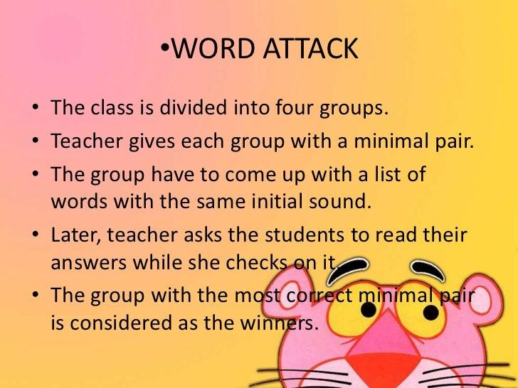 Word attack skills