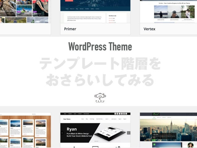 テンプレート階層を おさらいしてみる WordPress Theme