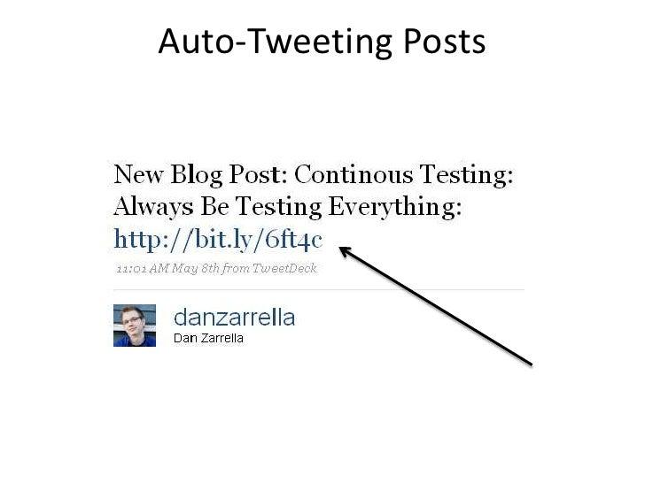 Auto-Tweeting Posts