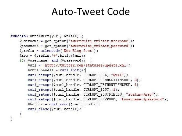 Auto-Tweet Code