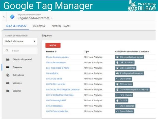Enganchadoainternet.com @SemBilbao Google Tag Manager