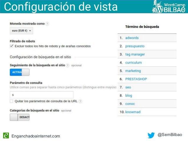 Enganchadoainternet.com @SemBilbao Configuración de vista
