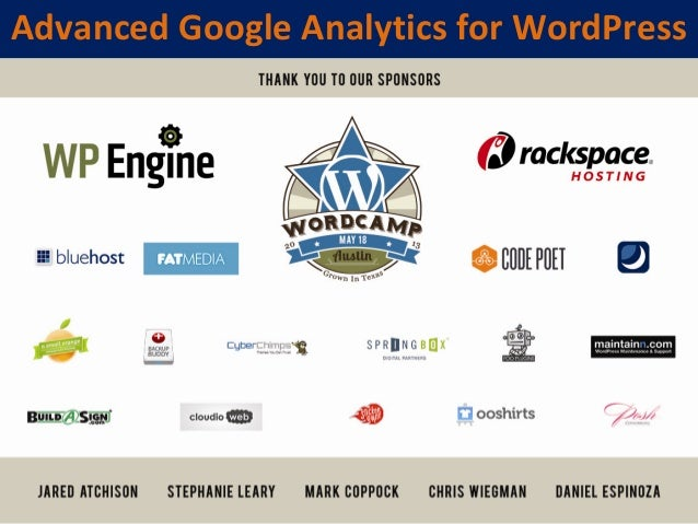 Advanced Google Analytics for WordPress