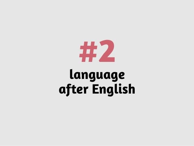 #2language after English