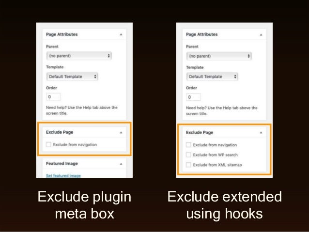 Exclude plugin meta box Exclude extended using hooks