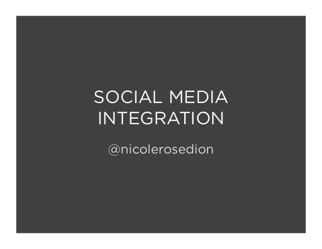 SOCIAL MEDIAINTEGRATION@nicolerosedion