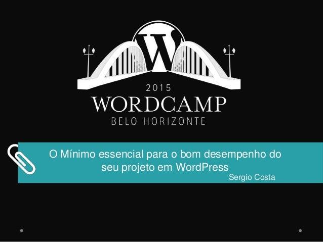 O Mínimo essencial para o bom desempenho do seu projeto em WordPress Sergio Costa