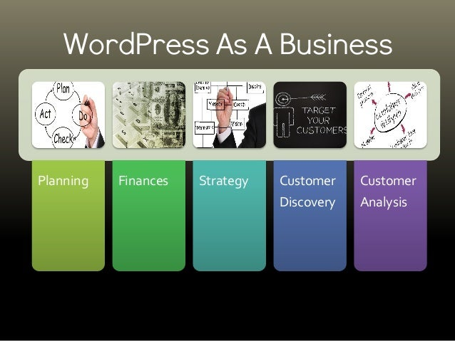Planning Finances Strategy Customer Discovery Customer Analysis WordPress As A Business