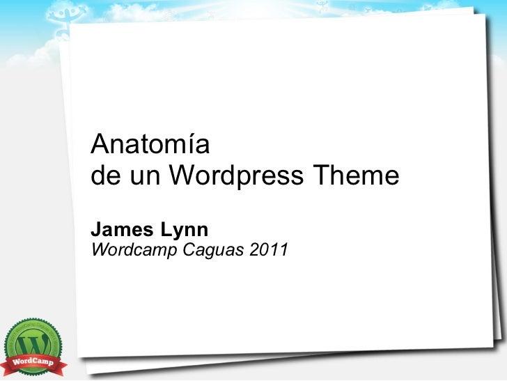 Anatomíade un Wordpress ThemeJames LynnWordcamp Caguas 2011