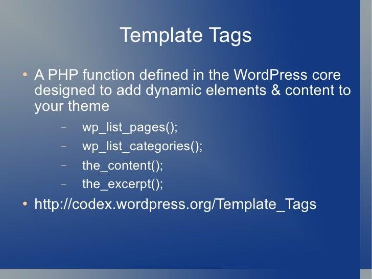 Custom Menu Support for WordPress Themes slideshare - 웹