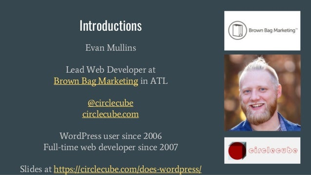 WordCamp Asheville 2017 - The Modular Web for WordPress Slide 2