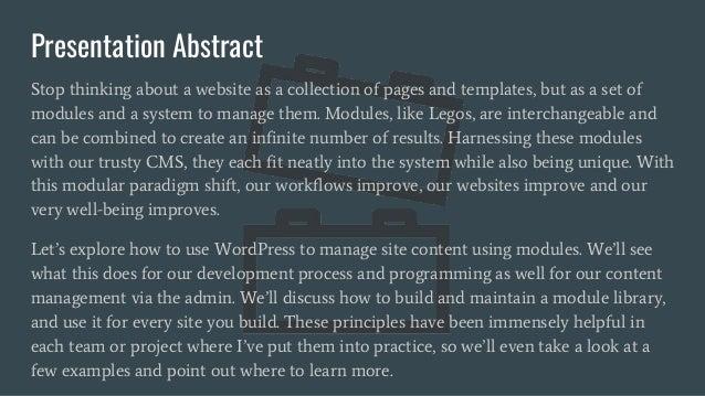WordCamp Asheville 2017 - The Modular Web for WordPress Slide 3