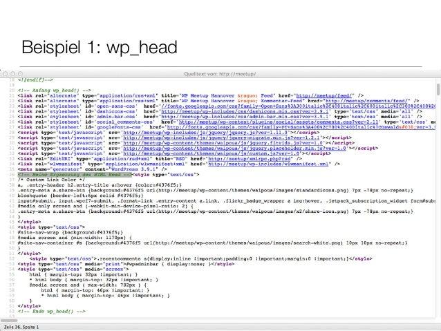 Beispiel 1: wp_head