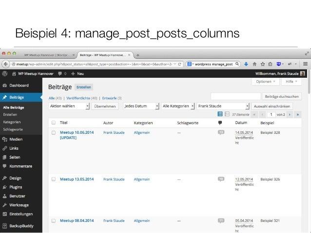 Beispiel 4: manage_post_posts_columns