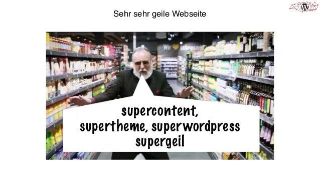Sehr sehr geile Webseite supercontent, supertheme, superwordpress supergeil
