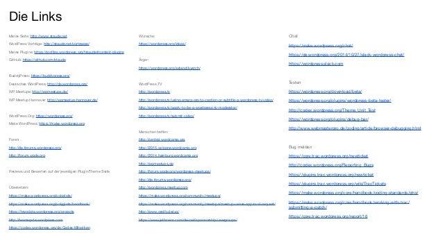 Meine Seite: http://www.staude.net WordPress Vorträge: http://staude.net/vortraege/ Meine Plugins: https://profiles.wordpr...