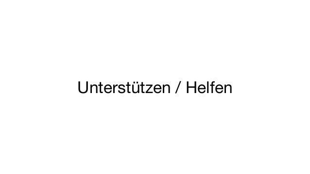Unterstützen / Helfen