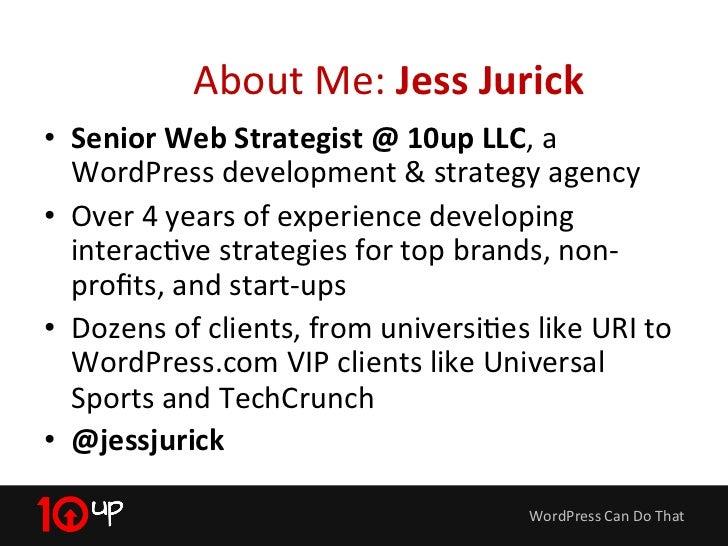 WordPress Can Do That Slide 2