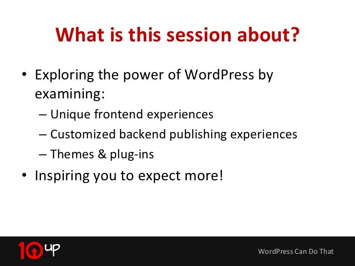 WordPress Can Do That Slide 3