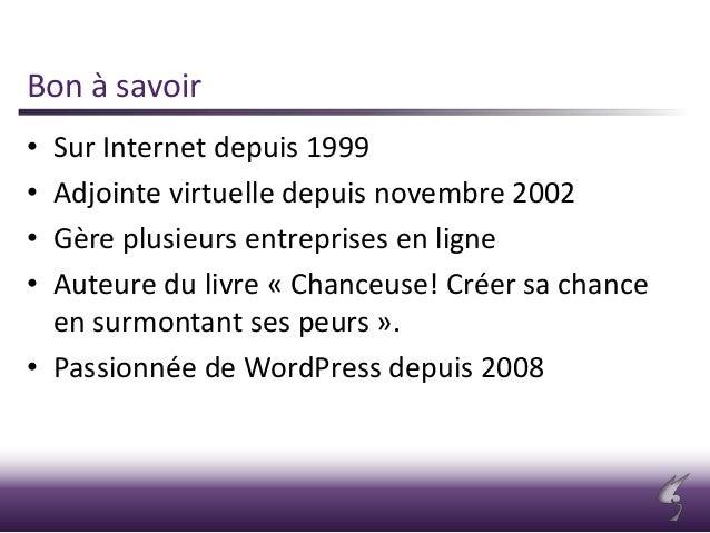 Une cyberentreprise sur WordPress - WordCamp Montréal 2013 Slide 2