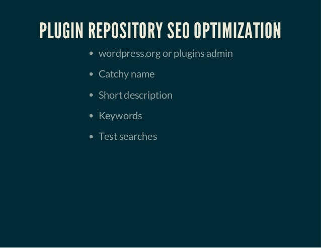 So, you want to be a plugin developer? slideshare - 웹