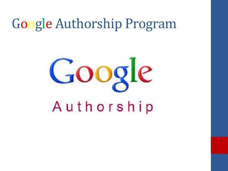 Google Authorship Program