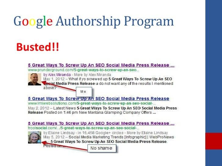 Google Authorship ProgramBusted!!