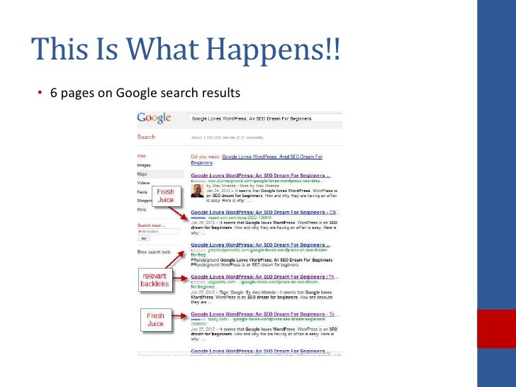 This Is What Happens!!• 6 pages on Google search results