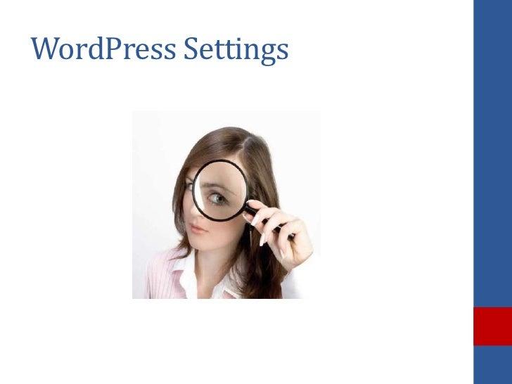 WordPress Settings