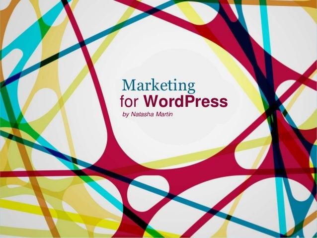 Marketing for WordPress by Natasha Martin