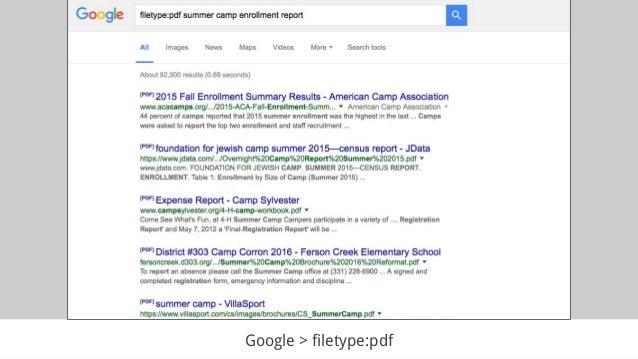 Google > filetype:pdf