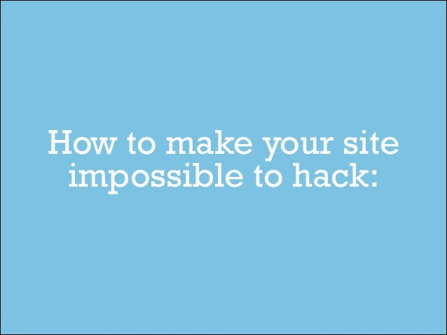 WordPress Security Best Practices Slide 2