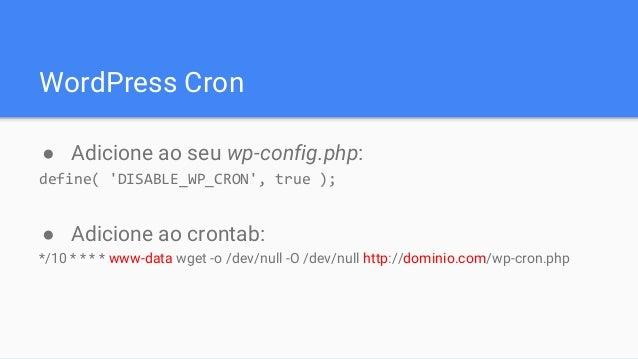Melhorando o desempenho do seu WordPress [WordCamp São Paulo 2015] slideshare - 웹